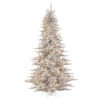 This item: Silver Fir Gray Artificial Pre-lit Tree with 1634 PVC Tip