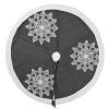This item: Winter Gray 60-Inch Tree Skirt with Festive Frost Grey Duckcloth