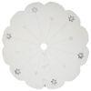 This item: Silver Flakes White 60-Inch Tree Skirt with Elegant And Plush White Cotton Velvet