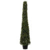 This item: Green 4-Feet Artificial Potted Boxwood Cone with UV Resistant