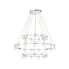 This item: Netto Chrome 40.5-Inch LED Chandelier