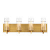 This item: Pista Gold 26-Inch Four-Light Bath Vanity
