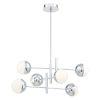 This item: Fairmount Chrome Six-Light LED Chandelier