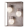 This item: Gibson Metal Three-Light LED Outdoor Wall Sconce