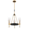 This item: Gladstone Antique Brass and Black Three-Light Chandelier