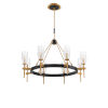 This item: Gladstone Antique Brass and Black Eight-Light Chandelier