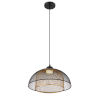 This item: Kenmore Black and Gold One-Light LED Pendant