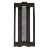 This item: Hanson Black Three-Light LED Outdoor Wall Sconce