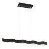 This item: Ripple Black and Silver One-Light 37-Inch LED Chandelier