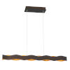 This item: Ripple Bronze and Gold One-Light 37-Inch LED Chandelier
