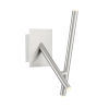 This item: Crossroads Satin Nickel Three-Light LED Wall Sconce
