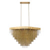 This item: Bloomfield Antique Brush Gold 29-Inch 22-Light LED Chandelier