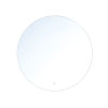 This item: Clear Round Edge-Lit LED Wall Mirror