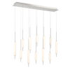 This item: Cumberland Satin Nickel 12-Light LED Pendant