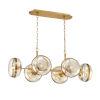 This item: Nottingham Ancient Brass Six-Light Oval Chandelier