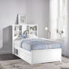 This item: Caspian White Twin Bookcase Bed