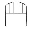 This item: Tolland Black 39-Inch Metal Twin Headboard with Arched Spindle Design