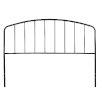 This item: Tolland Black 60-Inch Metal Headboard with Arched Spindle Design