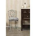 This item: Emerson Pewter Vanity stool