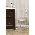 This item: Sparta White with Gold Rub Vanity stool