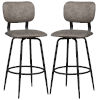 This item: Bloomfield Matte Black 42-Inch Metal Upholstered Seat and Back Swivel Bar Height Stool, Set of 2