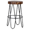 This item: Pembra Natural and Gray 30-Inch Bar Height Stool
