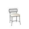 This item: Canal Street Pewter And Cream 17-Inch Vanity Stool