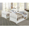 This item: Lake House White Twin Bed With Storage