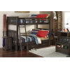 This item: Highlands Espresso Full Bunk With 2 Storage Unit And Hanging Nightstand