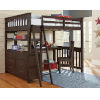This item: Highlands Espresso Full Loft Bed With Desk And Chair