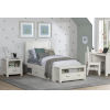 This item: Highlands White Twin Flat Panel Bed With 2 Storage Unit