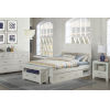 This item: Highlands White Full Flate Panel Bed With 2 Storage Unit
