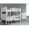 This item: Highlands White Full Bunk Bed With Hanging Nightstand