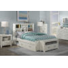 This item: Highlands White Full Bookcase Bed With Storage Unit