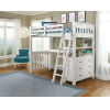 This item: Highlands White Twin Loft Bed With Desk And Hanging Nightstand