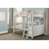 This item: Highlands White Full Loft Bed With Hanging Nighstand