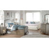 This item: Kensington Antique Silver Twin Upholstered Panel Bed With Storage