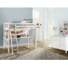 This item: Pulse White Twin Loft Bed With Hanging Nightstand