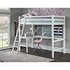 This item: Hillsdale Caspain Twin Study Loft, White