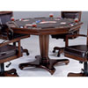 This item: Ambassador Rich Cherry Octagon Game Table