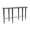 This item: Fiona Black Cerused Oak and Antique Brass Console Table