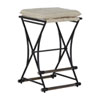 This item: Frederick Soft Chamois and Aged Black Counter Stool
