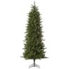 This item: Carolina Green Pencil Spruce 7.5 Foot x 38-Inch Christmas Tree with 450 Warm White LED Lights