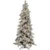 This item: Flocked Kodiak 4 Foot x 26-Inch Christmas Tree with 175 Warm White LED Lights