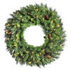 This item: Green 36-Inch LED Cheyenne Pine Wreath with 100 Warm White Lights
