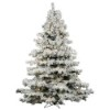 This item: Flocked Alaskan White on Green 6.5 Foot x 62-Inch Christmas Tree with 600 Warm White LED Lights