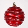 This item: Red 8-Inch Candy Glitter Wave Ball Ornament