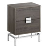 This item: Dark Taupe and Chrome 13-Inch Accent Table with Two Storage Drawers