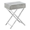 This item: Gray and Chrome 12-Inch Accent Table with X Base Legs