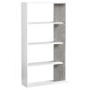 This item: White and Gray Nine-Inch Bookcase